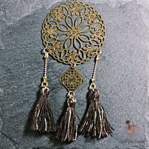 pendentif bronze pompom create your paradise