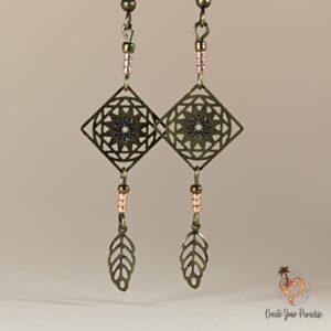 Boucles d'Oreilles Inka Plume