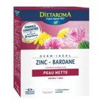 Dermideal complexe zinc bardane - 30 comprimés - Dietaroma