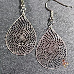 Boucles d'oreilles Mandala Goutte