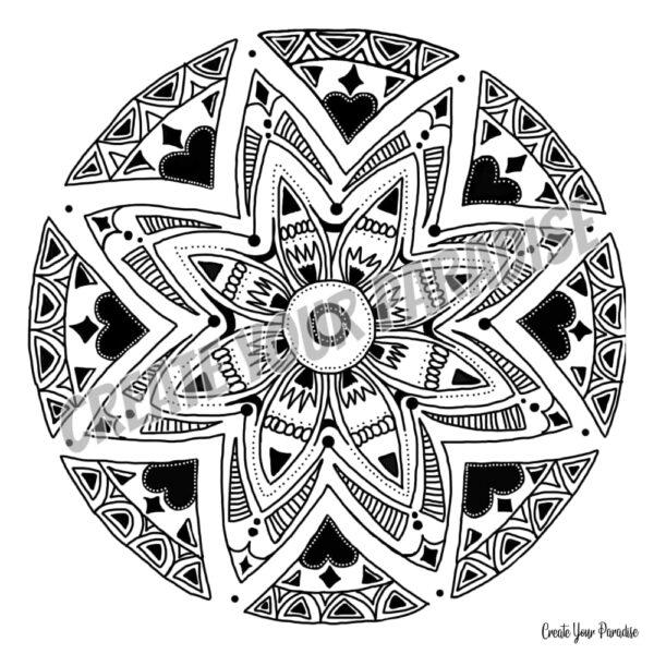 Mandala Etoile Coeur